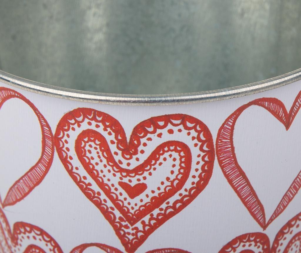 Hearts Pattern Doodle Virágcserép