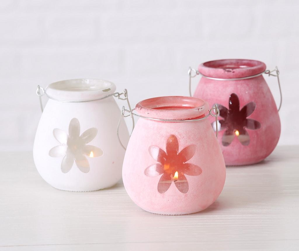 Suport pentru lumanare Flower Light Pink