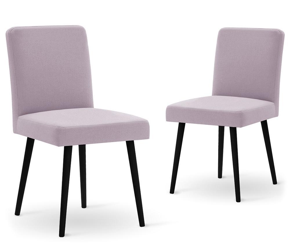 Set 2 scaune Fragrance Black & Lilac