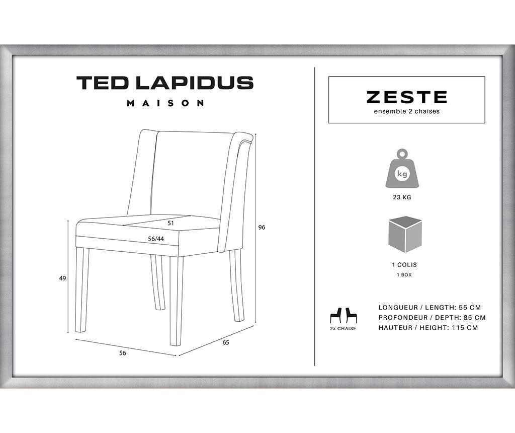 Комплект 2 стола Zeste Black & Mint