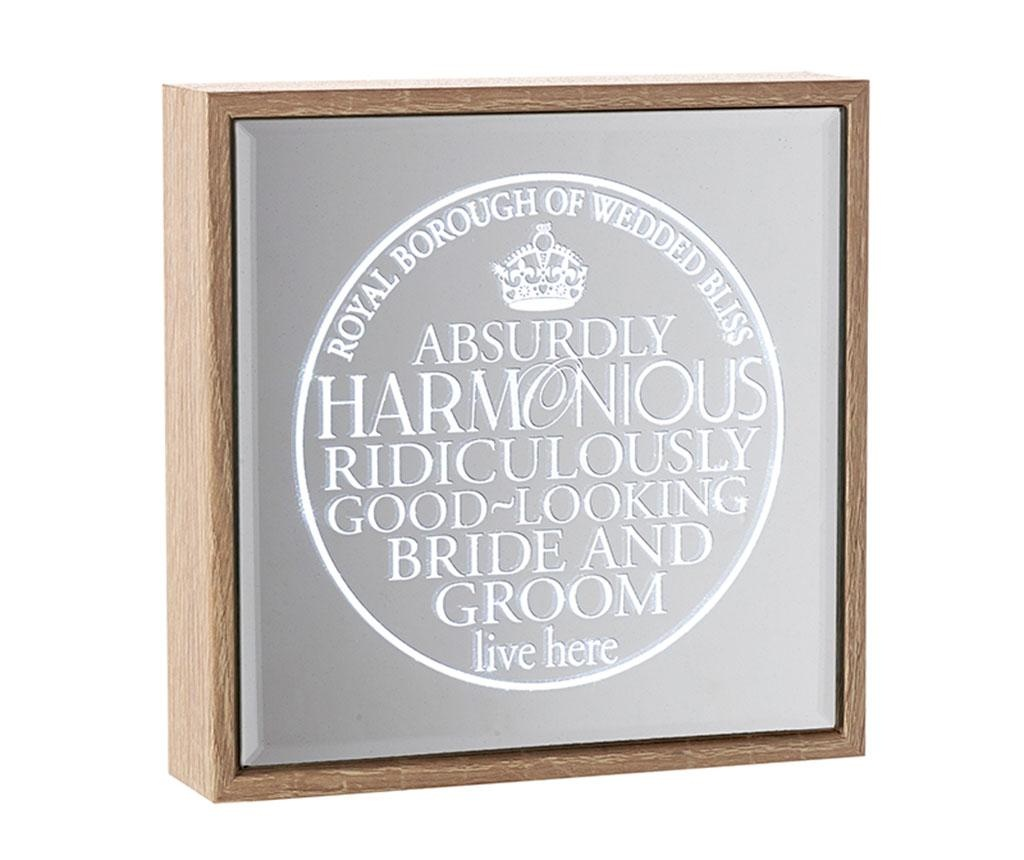 Světelná dekorace se zrcadlem Bride & Groom