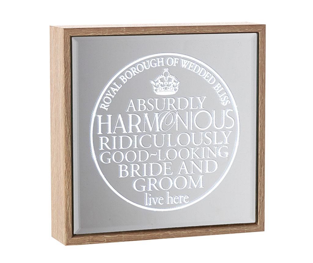 Decoratiune luminoasa cu oglinda Bride & Groom