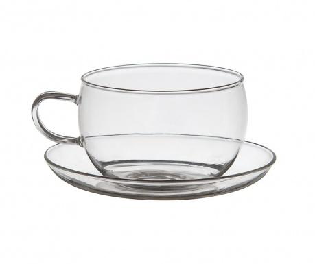 Сервиз 2 чашки и 2 чинийки Glamour Clear
