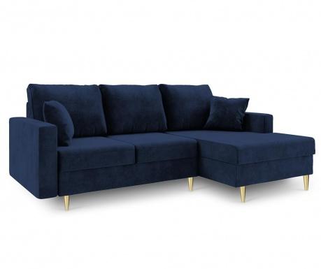 Разтегателен десен ъглов диван Muguet Royal Blue