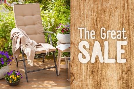 The Great Sale: Gradina si exterior