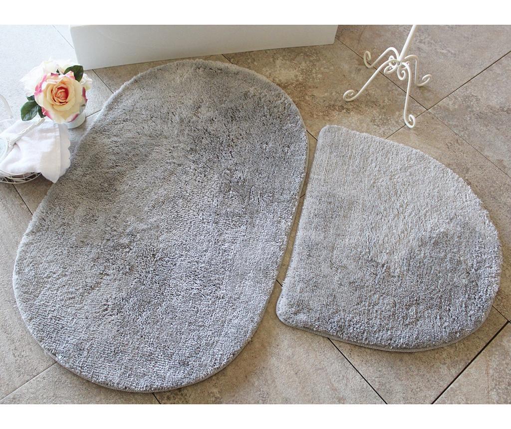 Manilla Round Grey 2 db Fürdőszobai szőnyeg
