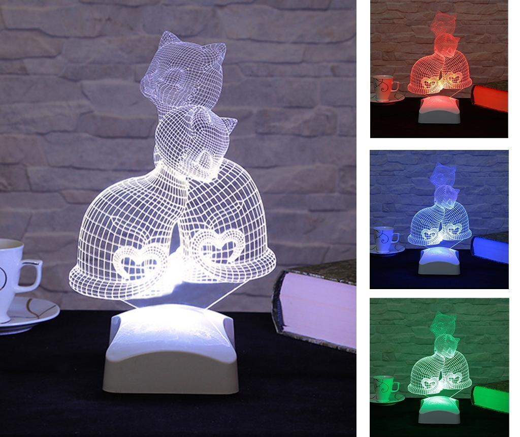 Noćna svjetiljka Kittens 3D