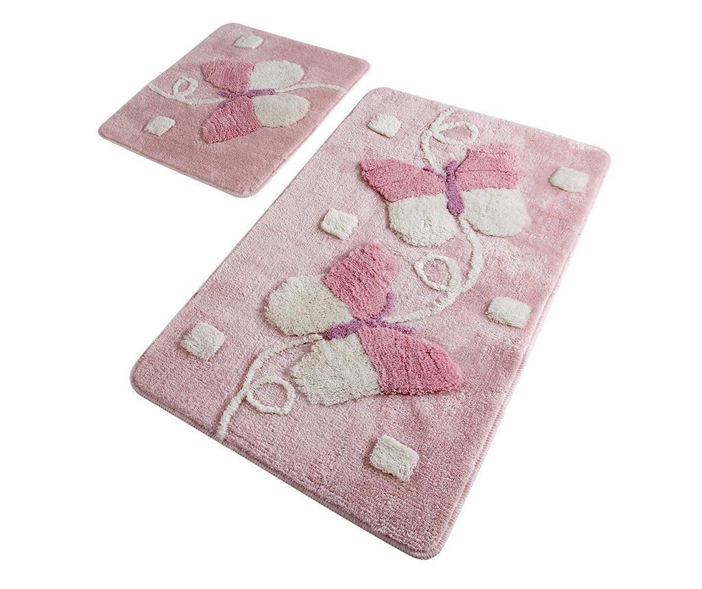 Mari Pink 2 db Fürdőszobai szőnyeg