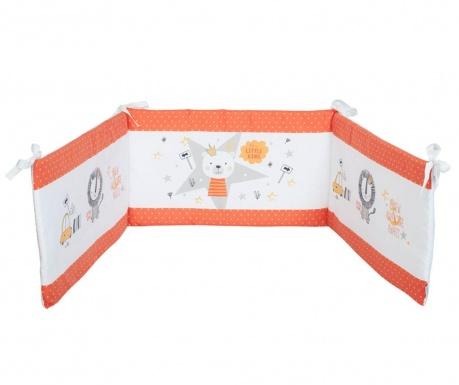 Protectie pentru patut Teddy King Orange 40x210 cm