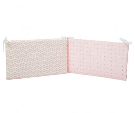 Protectie pentru patut Pattern Pink 40x210 cm