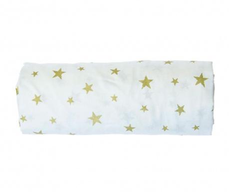 Cearsaf de patut cu elastic Stars Green 70x132 cm