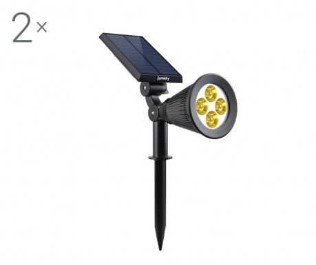 Set 2 solarnih svetilk Spiky Warm