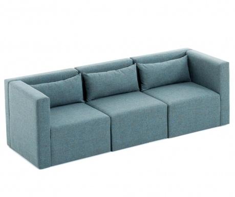 Canapea modulara 3 locuri Plus Blue