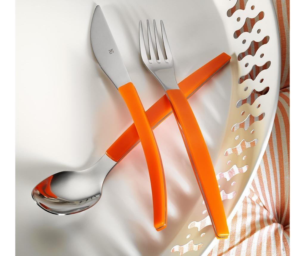30-delni jedilni pribor Colors Orange