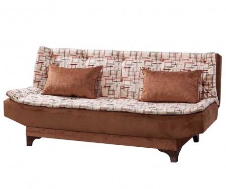 Canapea extensibila 3 locuri Clara Pattern Brown