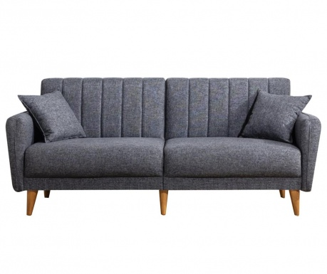 Canapea 3 locuri Tiffany Dark Grey