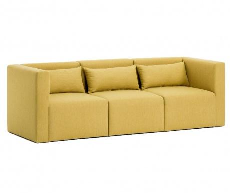 Canapea modulara 3 locuri Plus Yellow