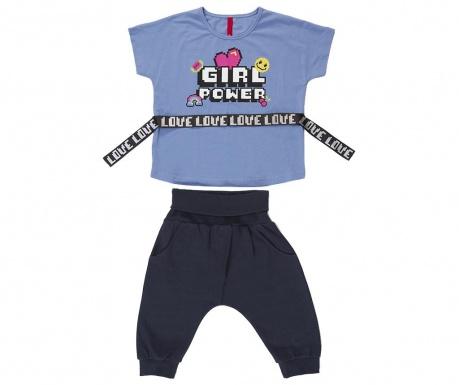 Sada tričko a nohavice pre deti Girl Power Baggy