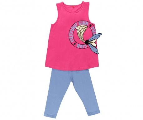 Sada tričko bez rukávov a legíny pre deti Mermaid