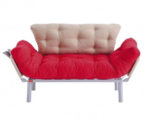 Sofa extensibila 2 locuri Ege Red and Cream