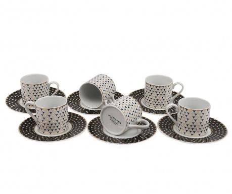 Set 6 cesti si 6 farfurioare Espresso Equilatero