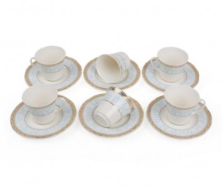 Set 6 cesti si 6 farfurioare Espresso Bloom Blue
