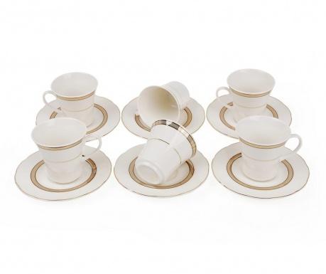 Set 6 cesti si 6 farfurioare Espresso Gold Detail