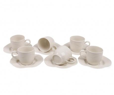Set 6 cesti si 6 farfurioare Espresso Curls