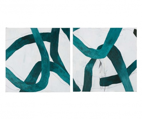 Set 2 tablouri Mark Tangle 76x76 cm