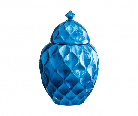 Vas decorativ cu capac Duke Blue