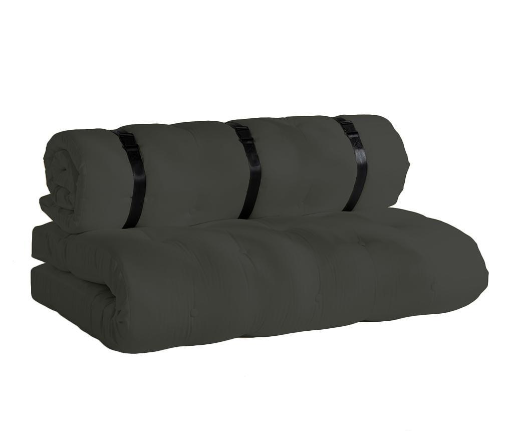 Kauč na razvlačenje za vanjski prostor Buckle Up Out Dark Grey 140x200 cm