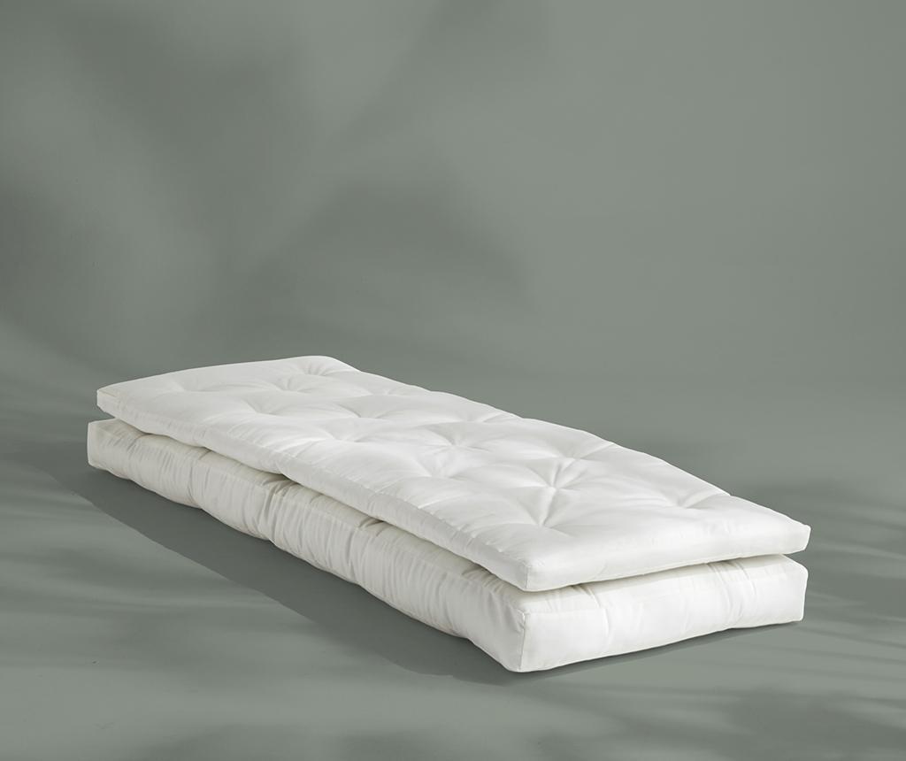 Rozkładany fotel zewnętrzny Buckle Up Out White 70x200 cm
