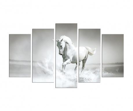 Set 5 tablouri White Horse