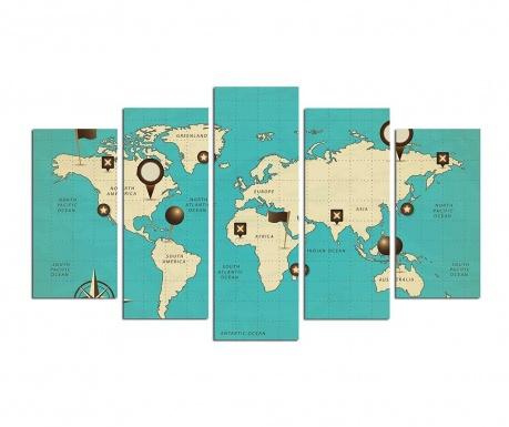 Set 5 tablouri Traveler
