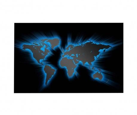 Tablou cu LED World Map 45x70 cm