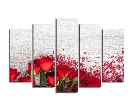 Set 5 tablouri Petals