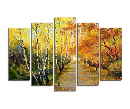 Set 5 tablouri Yellow