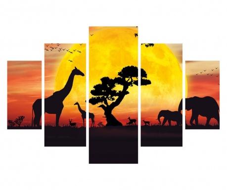 Set 5 tablouri Africa