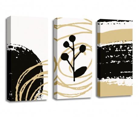 Set 3 tablouri Cream 20x45 cm