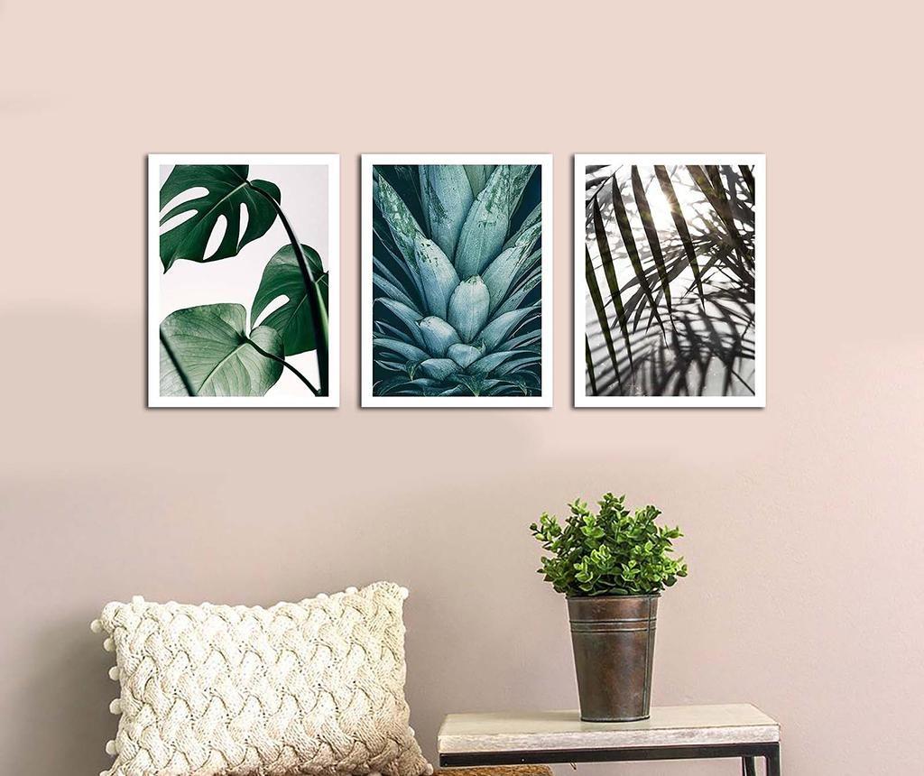 Set 3 slike Palms 30x40 cm