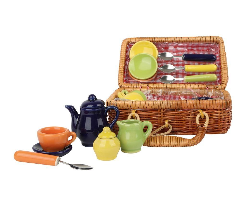 Set cos pentru picnic de jucarie si accesorii Joy