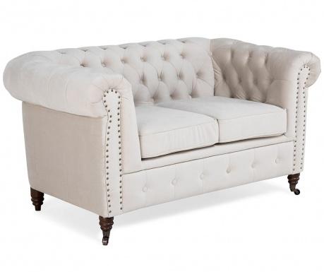 Chesterfield Beige Kétszemélyes kanapé
