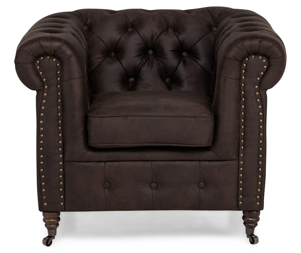 Fotel Chesterfield Vintage Brown