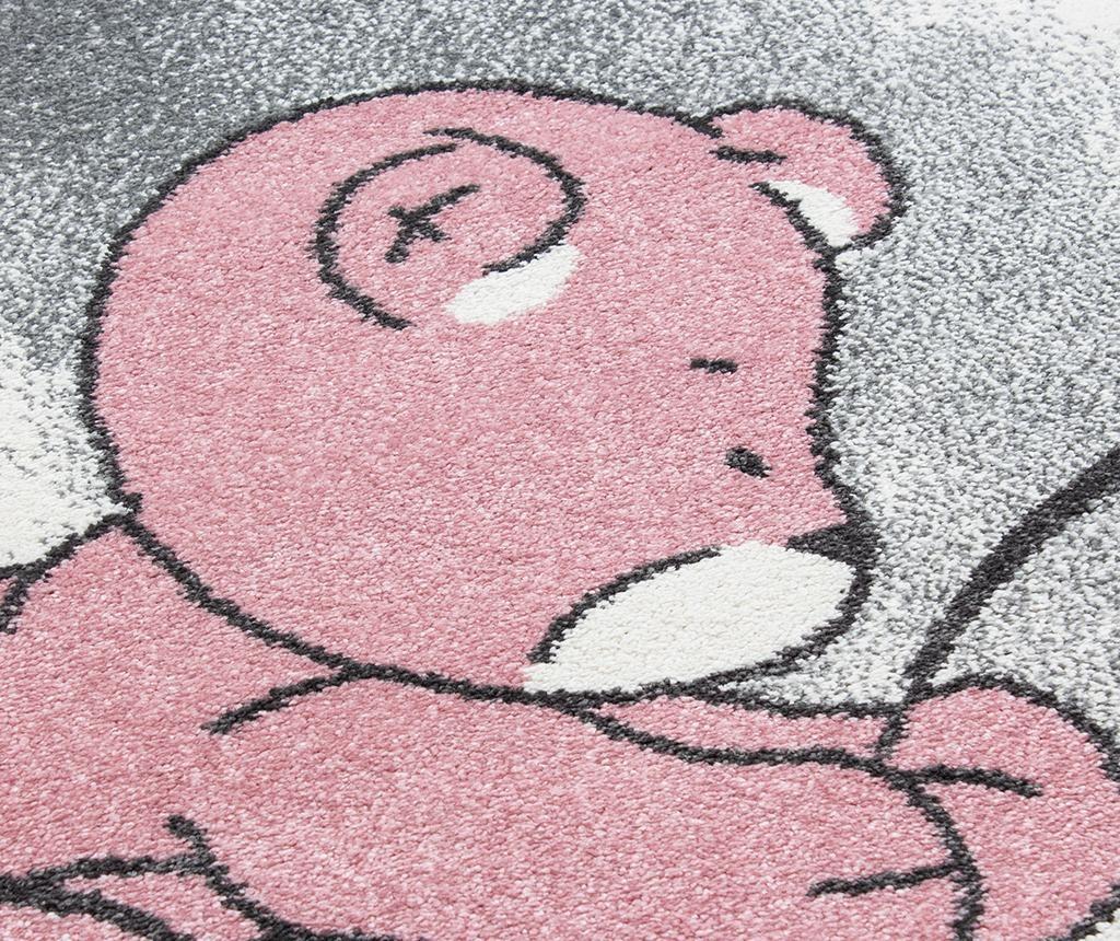 Preproga Teddy bear Round Pink 160 cm