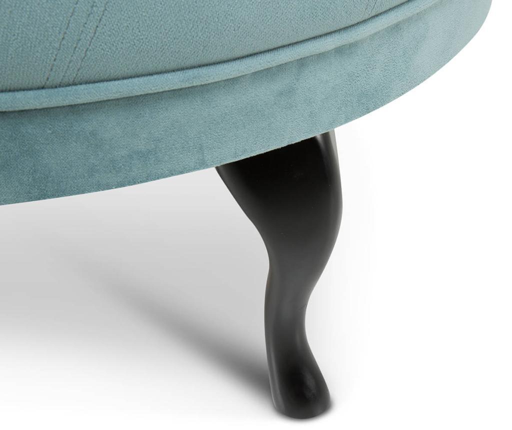 Taburet pentru picioare diYana Wide Turquoise