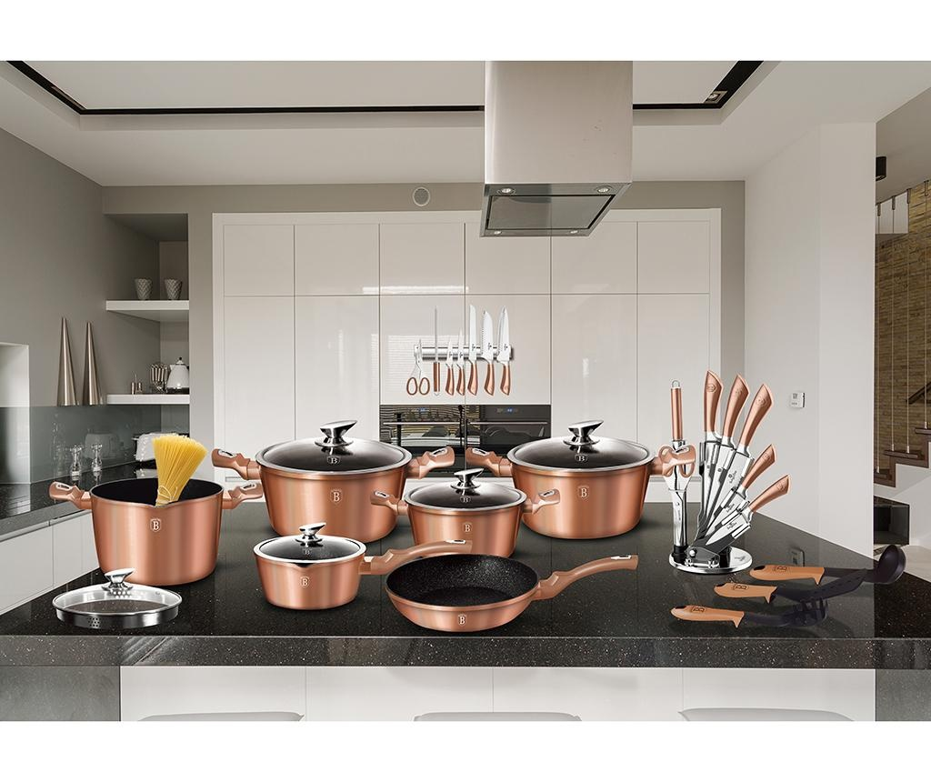 10-delni set posode za kuhanje Metallic Line Rose Gold Edition
