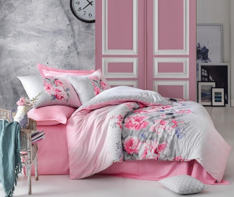 Спално бельо Single Ranforce Fiona Pink