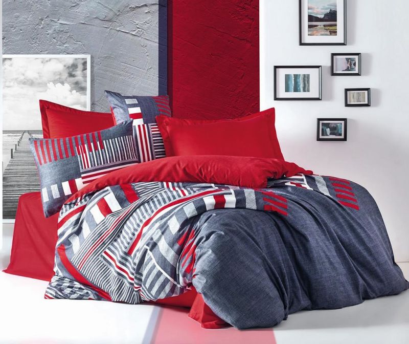 Posteljnina King Sateen Supreme Roxy Red 200x220
