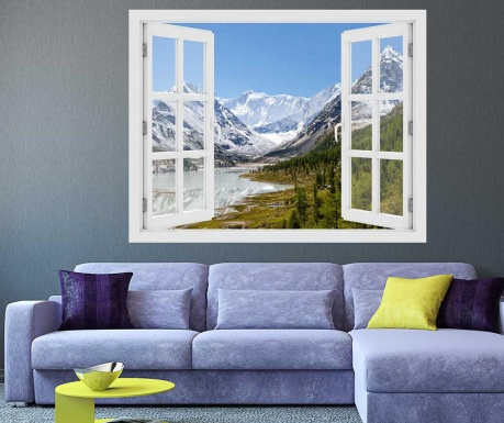 Window Russia Mountain 3D Matrica