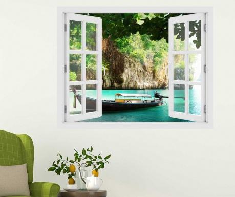 Window Thailand Boat 3D Matrica
